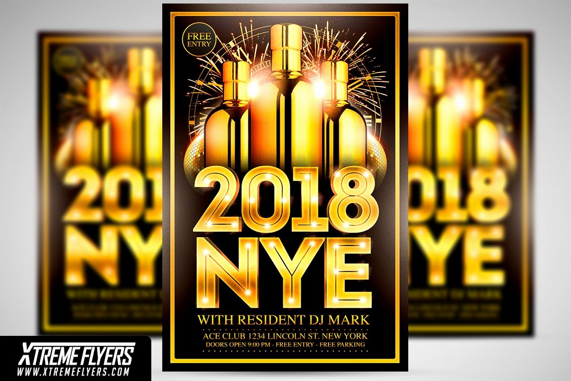 New Year Flyers Template Elegant New Years Eve Flyer Template Flyer Templates Creative
