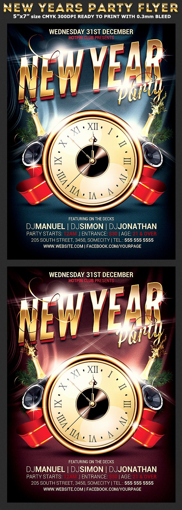New Year Flyers Template Elegant New Years Eve Party Flyer Template