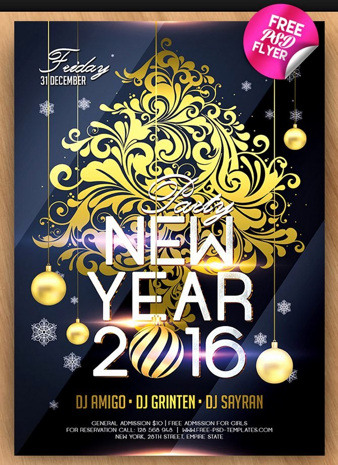 New Year Flyers Template Fresh 30 Free Christmas and New Year Psd Flyers for Promos