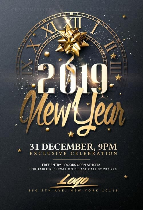 New Year Flyers Template Inspirational Classy New Year Psd Flyer Templates Creative Flyers