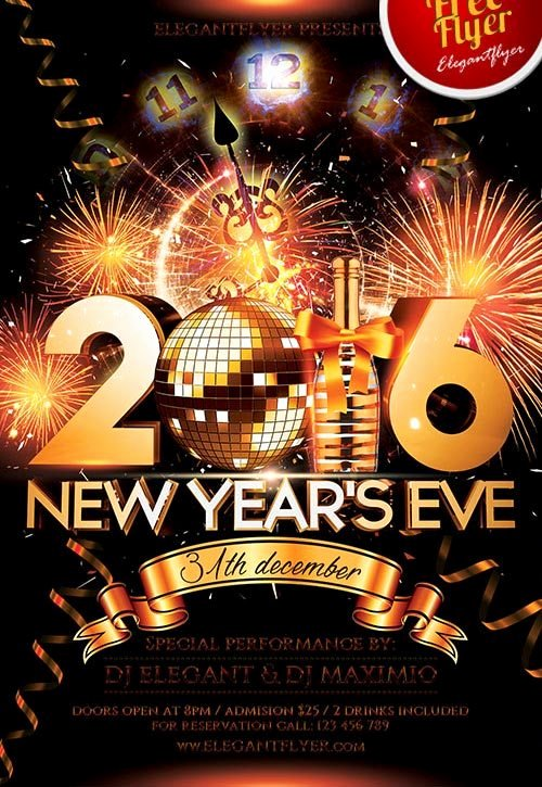 New Year Flyers Template Inspirational New Year Eve Free Psd Flyer Template Download for Shop