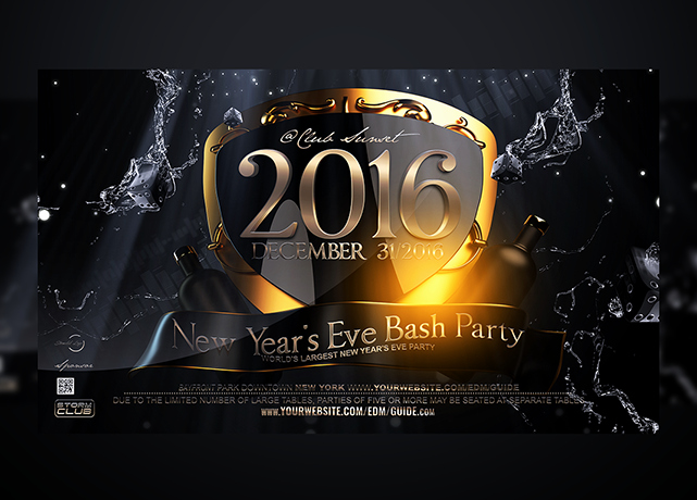 New Year Flyers Template Inspirational New Years Eve Flyer Template