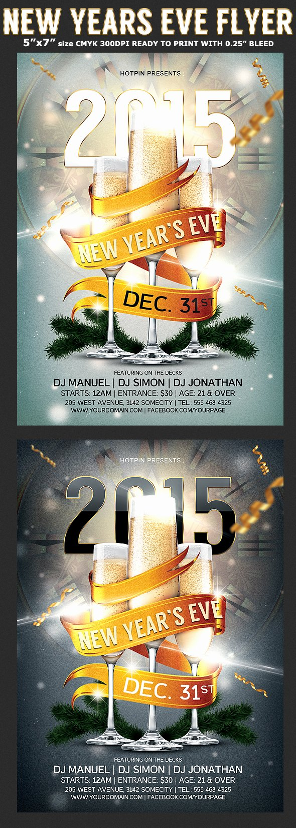 New Year Flyers Template Inspirational New Years Eve Party Flyer Template
