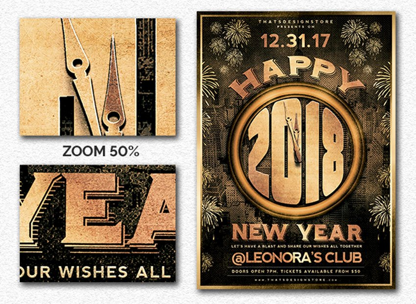 New Year Flyers Template Lovely 30 Best New Year S Eve Flyers and Invitations