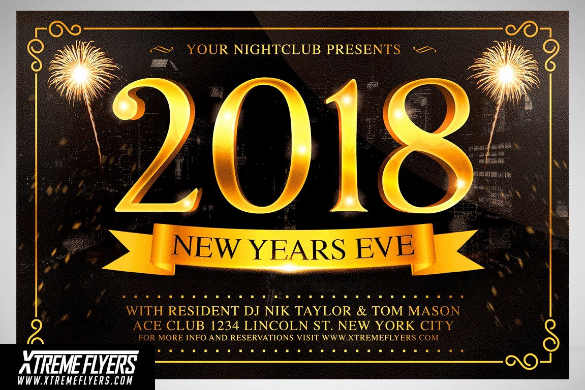 New Year Flyers Template Lovely New Years Eve Flyer Template Flyer Templates Creative