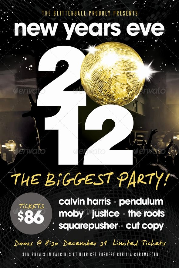 New Year Flyers Template Lovely New Years Eve Flyer Template