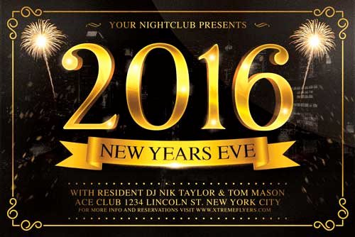 New Year Flyers Template Lovely New Years Eve Flyer Template Xtremeflyers