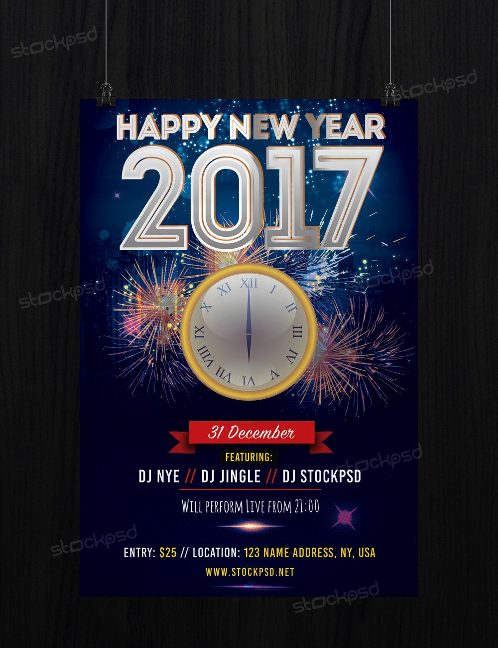 New Year Flyers Template Luxury 2017 Free New Years Eve Free Psd Flyer Template Free