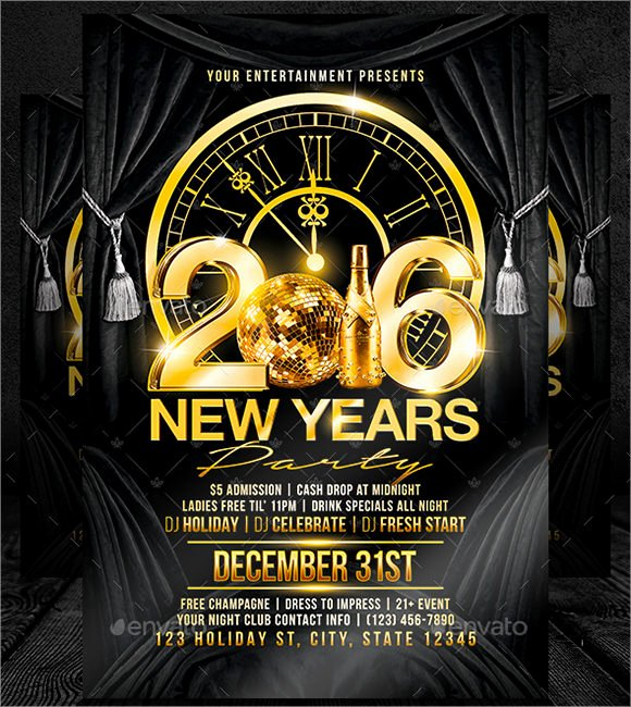 New Year Flyers Template Luxury 35 Amazing New Year Party Flyer Templates to Download