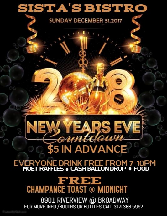 New Year Flyers Template Luxury New Years Eve Flyer Template