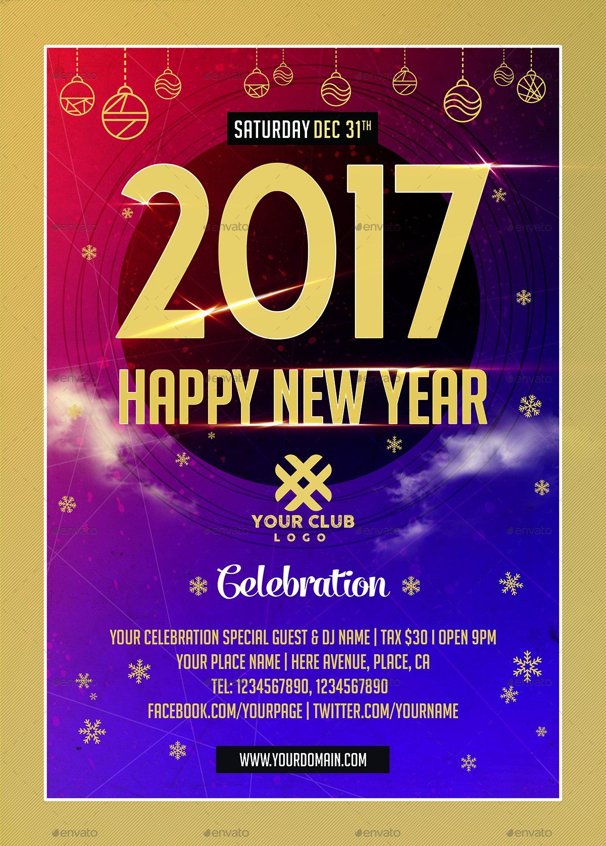 New Year Flyers Template New New Year Celebration Flyer Templates by Xepeec