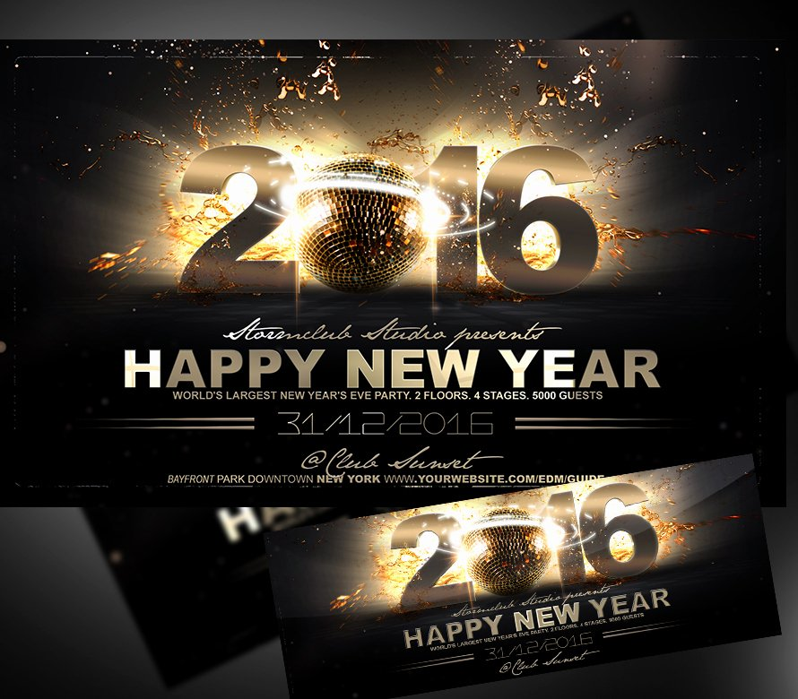 New Year Flyers Template Unique Happy New Year Flyer Template