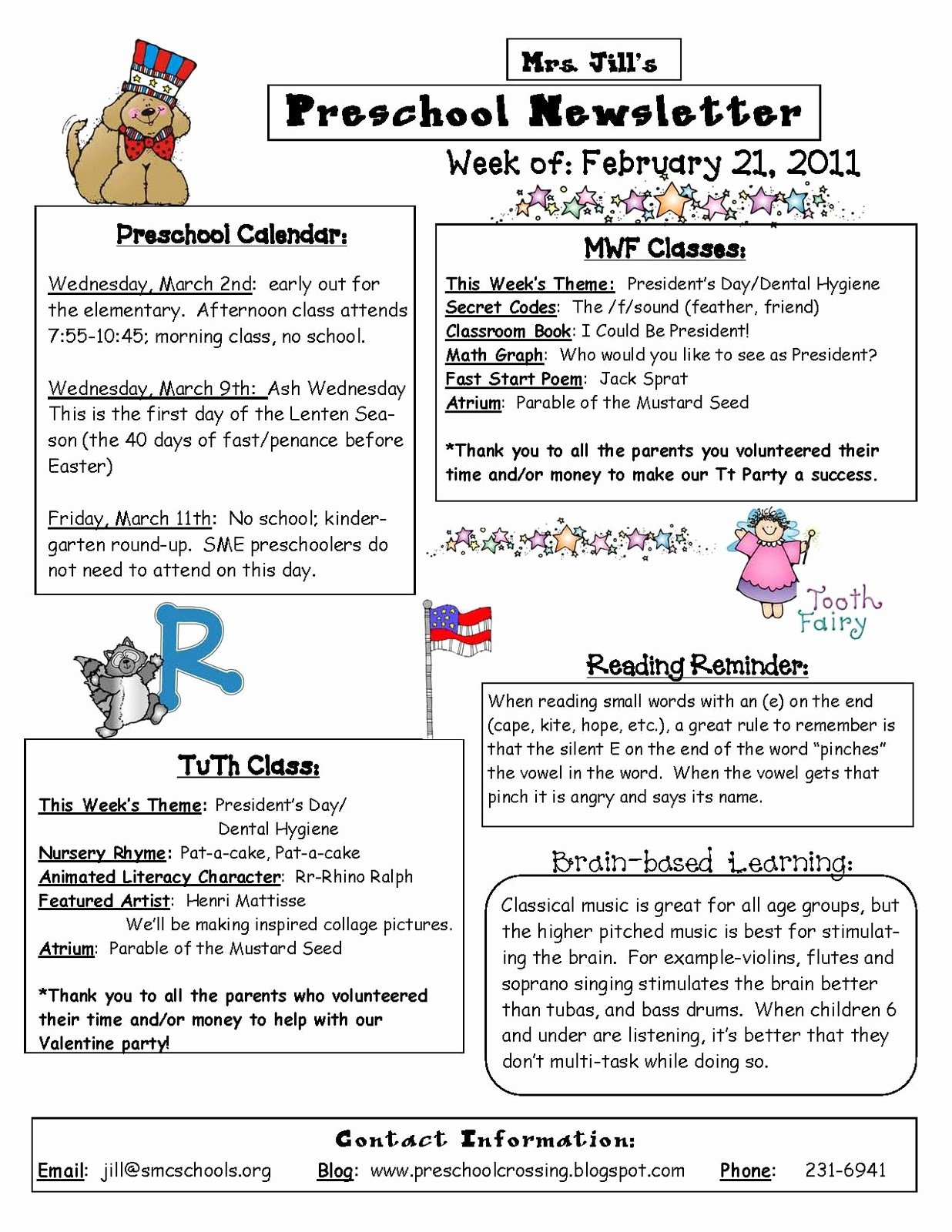 Newsletter for Preschool Parents Template Beautiful Preschool Crossing Here is An Example Of My Weekly Newsletter