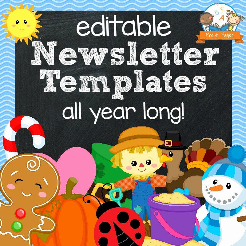 Newsletter for Preschool Parents Template Elegant Classroom Newsletters Pre K Pages
