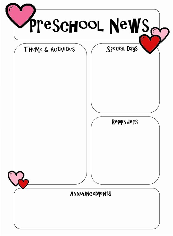 Newsletter for Preschool Parents Template Inspirational 6 Best Preschool Newsletter Templates to Download