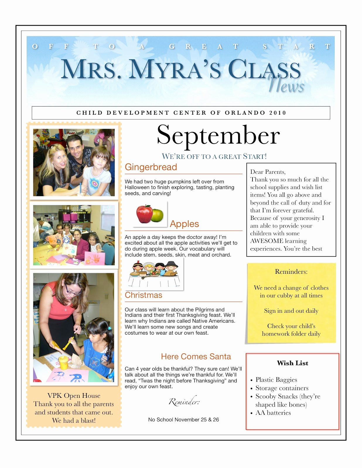 Newsletter for Preschool Parents Template Inspirational Centers and Circle Time the Preschool Newsletter