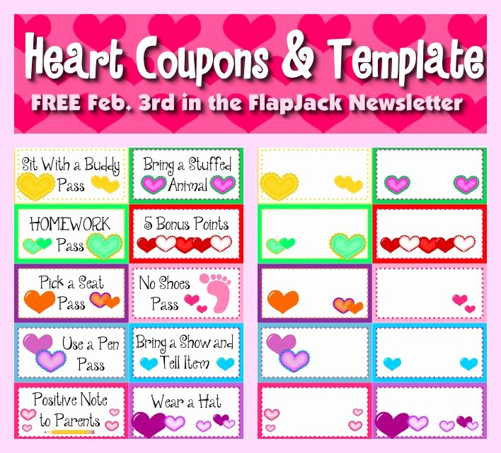 Newsletter Sign Up Template Best Of Free Heart Behavior Coupons and Editable Template In
