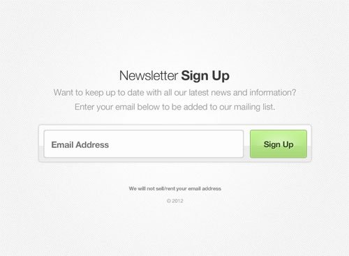 Newsletter Sign Up Template Fresh 20 Free Newsletter Subscription form Templates Psd