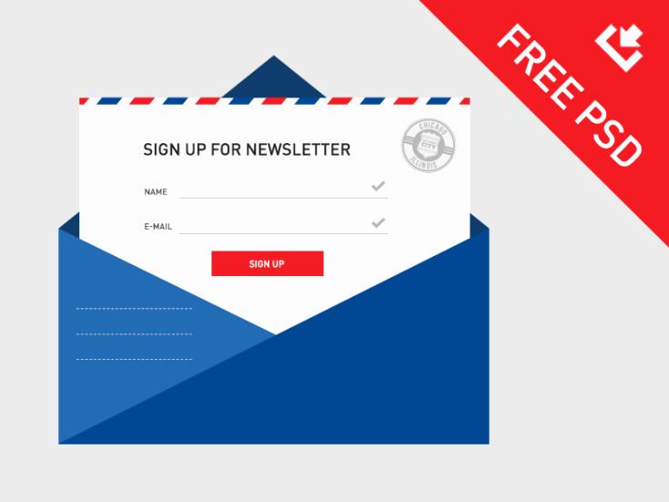 Newsletter Sign Up Template Unique Newsletter Sign Up Psd Template Free Download