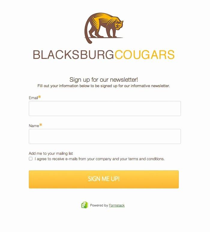 Newsletter Signup form Template Awesome 20 Best Line form Templates & form Design Images On