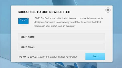 Newsletter Signup form Template Beautiful 20 Free Newsletter Subscription form Templates Psd