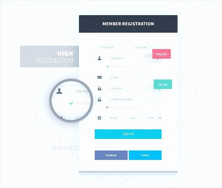 Newsletter Signup form Template Fresh Website form Templates Register Template Elegant Login and