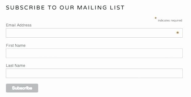 Newsletter Signup form Template Inspirational Newsletter Signup form Template