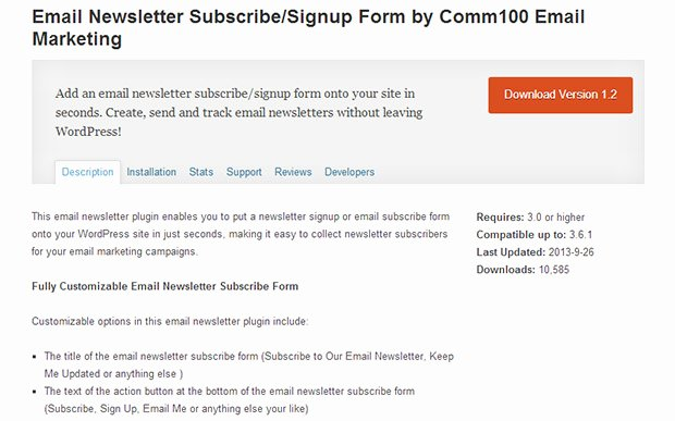 Newsletter Signup form Template Luxury 35 top Wordpress Newsletter Plugins