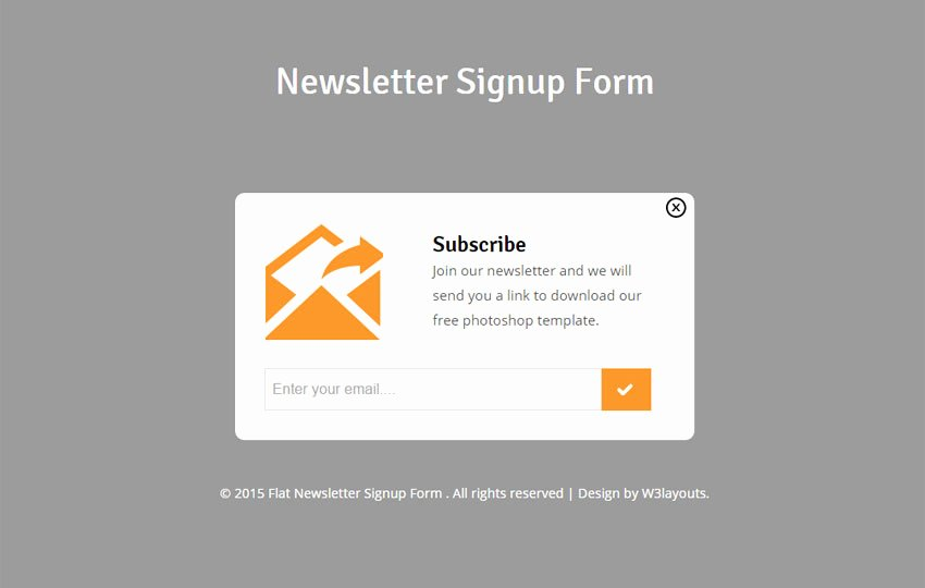 Newsletter Signup form Template New Newsletter Signup form Responsive Wid Template