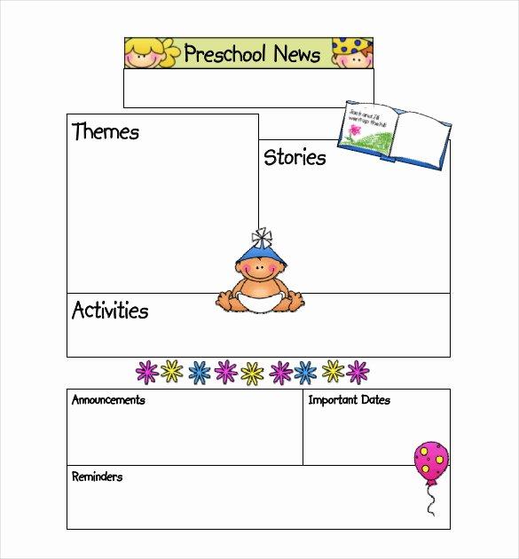 Newsletter Template for Preschool Beautiful 7 Preschool Newsletter Templates Pdf Doc