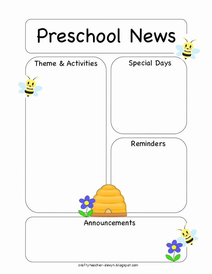 Newsletter Template for Preschool Elegant 50 Best Newsletter Templates Images On Pinterest