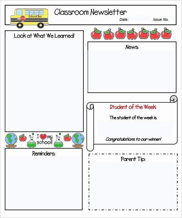 Newsletter Template for Preschool Elegant Sample Kindergarten Newsletter Template 15 Free