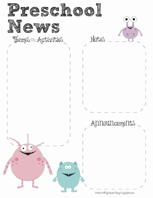Newsletter Template for Preschool Fresh 17 Best Ideas About Preschool Newsletter On Pinterest