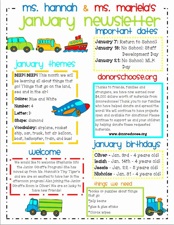 Newsletter Template for Preschool Fresh Ideas for Municating with Parents
