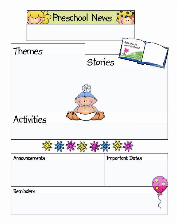 Newsletter Template for Preschool Inspirational Sample Kindergarten Newsletter Template 15 Free