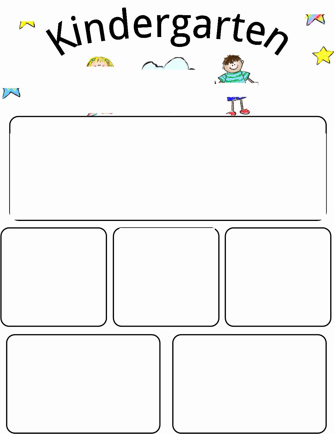 Newsletter Template for Preschool Luxury Newsletter Kindergarten Newsletter Template