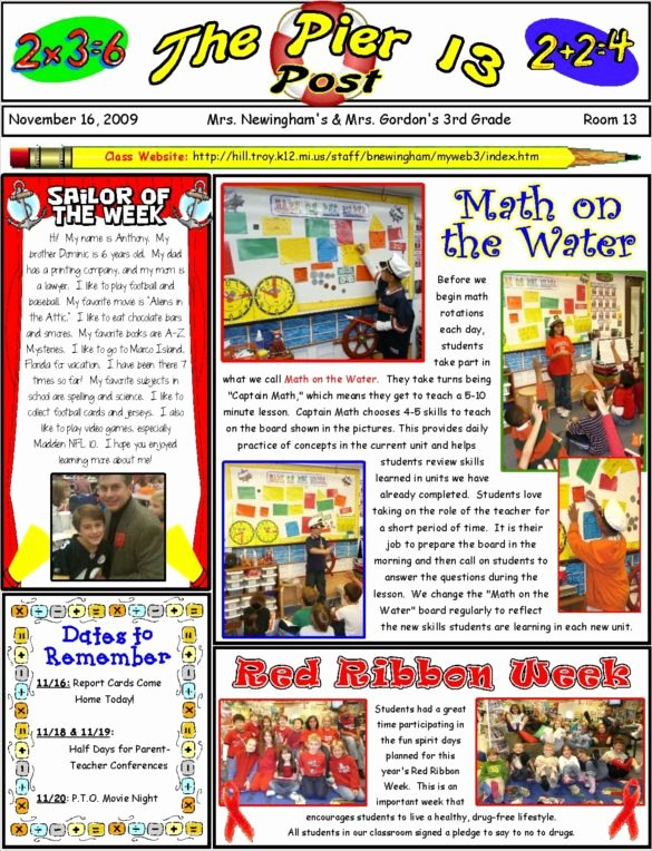 Newsletter Template for Teachers Awesome 1000 Ideas About Teacher Newsletter Templates On