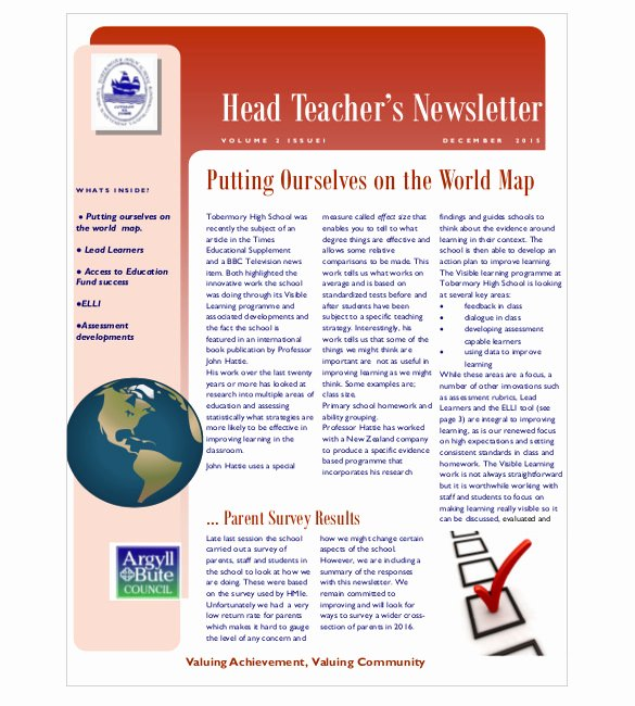 Newsletter Template for Teachers Beautiful 9 Teacher Newsletter Templates – Free Sample Example