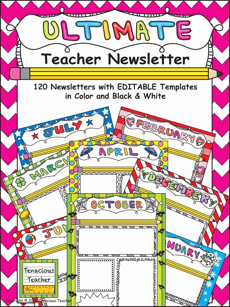 Newsletter Template for Teachers Beautiful Best 20 Teacher Newsletter Templates Ideas On Pinterest