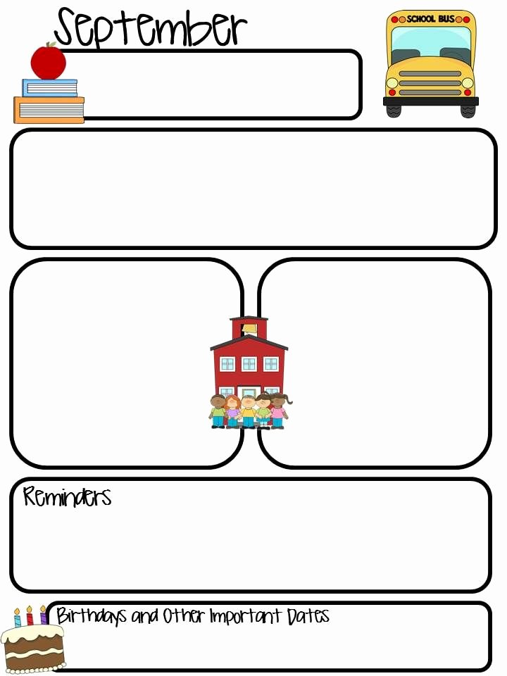 Newsletter Template for Teachers Best Of Thrifty In Third Grade Class Monthly Newsletter