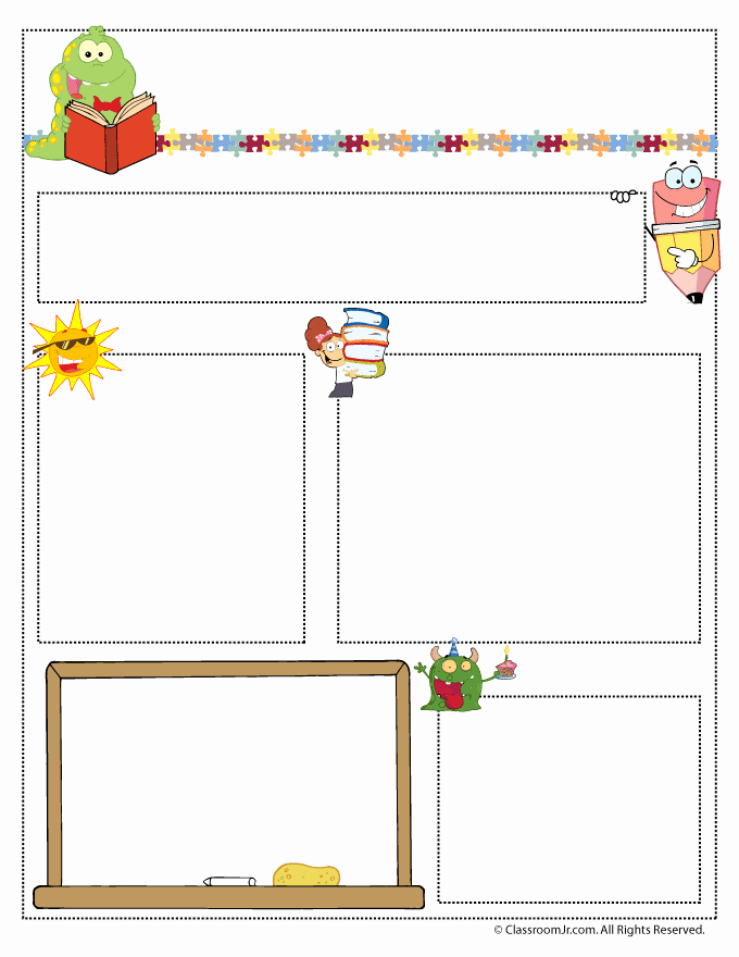 Newsletter Template for Teachers Elegant Teacher Newsletter Templates Woo Jr Kids Activities
