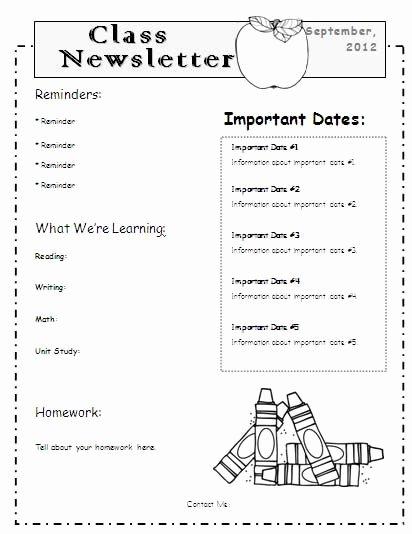 Newsletter Template for Teachers Lovely 1000 Ideas About Teacher Newsletter Templates On