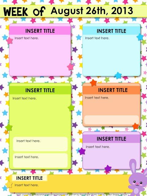 Newsletter Template for Teachers Luxury Editable Teacher Newsletter Template Templates Resume