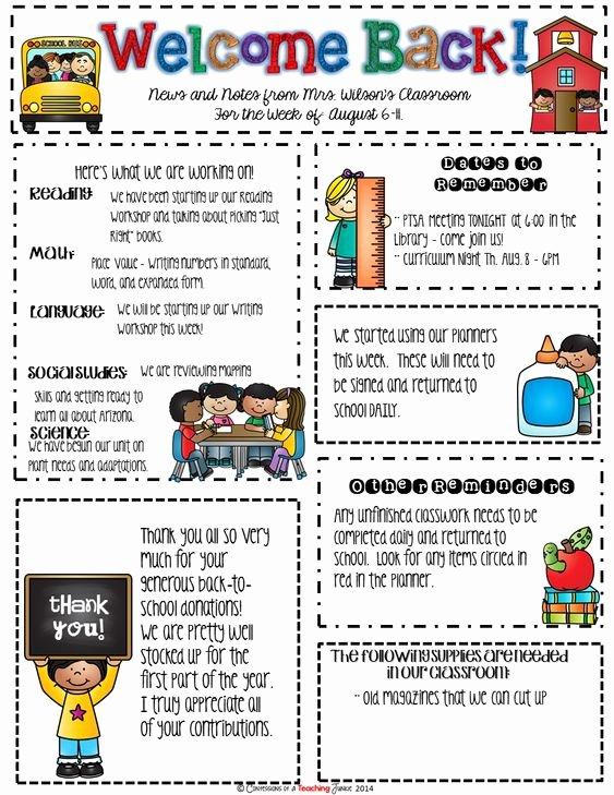 Newsletter Template for Teachers New Seasonal Classroom Newsletter Templates for Busy Teachers