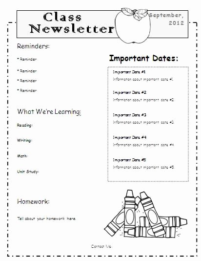 Newsletter Template for Teachers Unique 1000 Ideas About Teacher Newsletter Templates On
