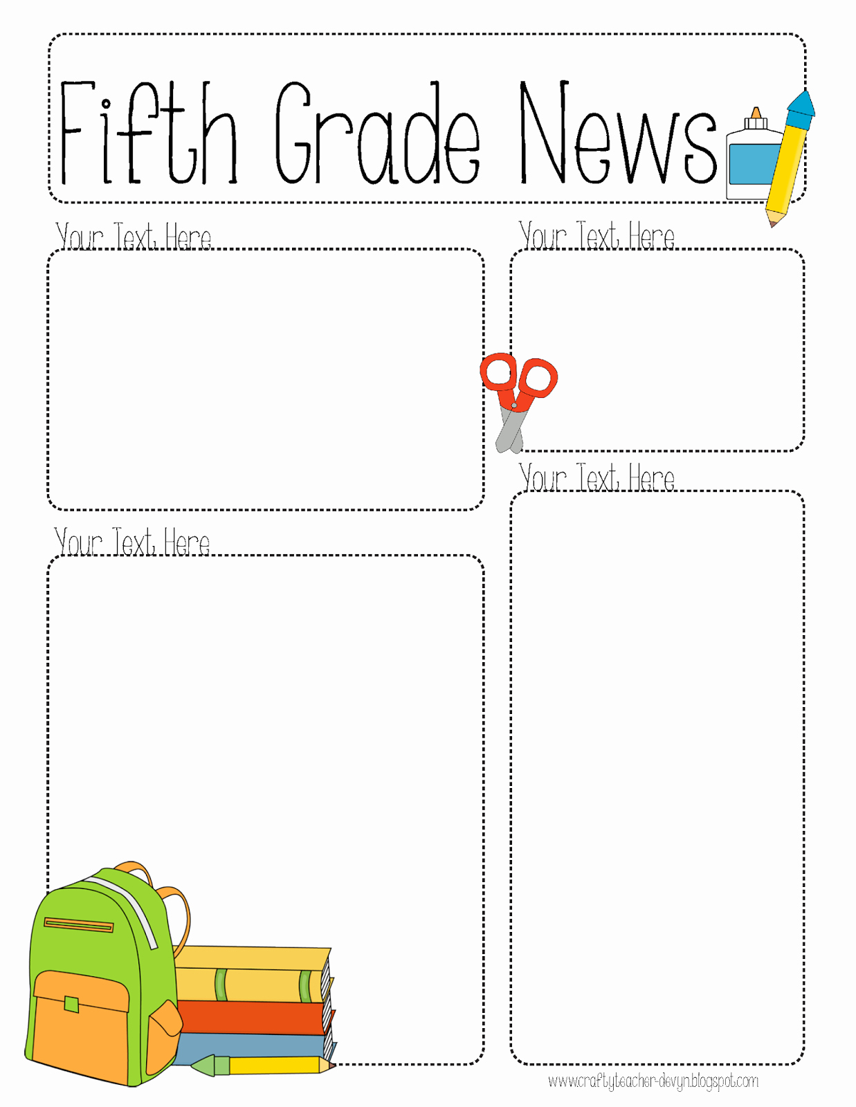 Newsletter Template for Teachers Unique Pletely Editable Newsletter for All Grades