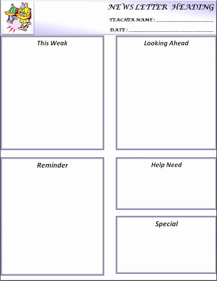 Newsletter Template for Word Best Of Free Classroom Newsletter Templates Template 9 Word