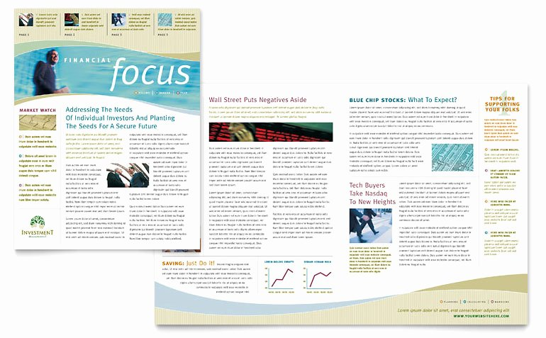 Newsletter Template for Word Best Of Investment Management Newsletter Template Word & Publisher