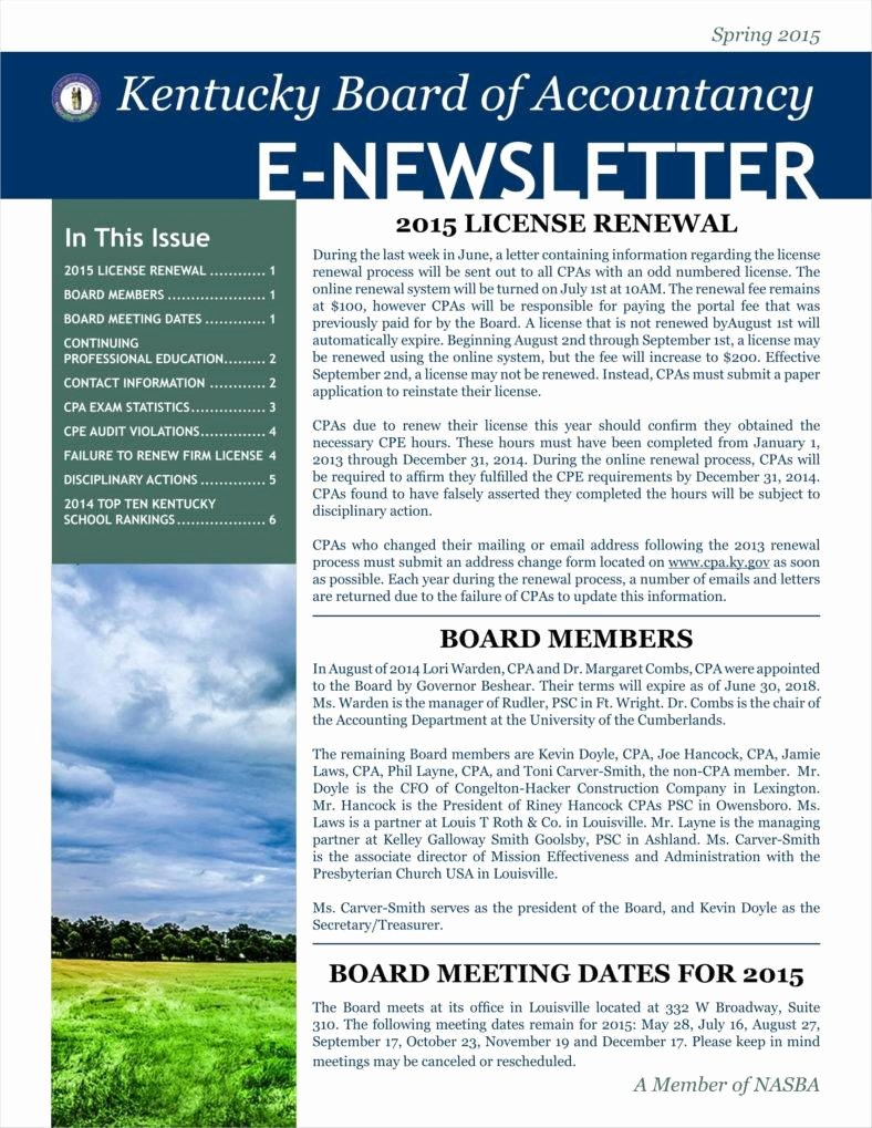Newsletter Template for Word Fresh 9 Basic Newsletter Templates Free Word Pdf format