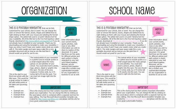 Newsletter Template for Word Inspirational 5 Newsletter Word Templates Excel Pdf formats